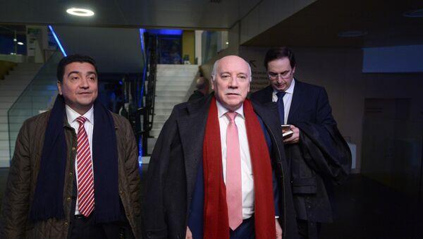 Eladio Loizaga Caballero, ministro de Exteriores de Paraguay, con la delegación - Sputnik Mundo