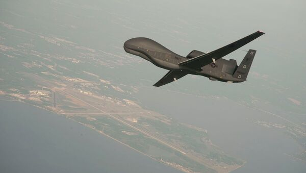 RQ-4 Global Hawk unmanned aerial vehicle conducts tests over Naval Air Station Patuxent River - Sputnik Mundo