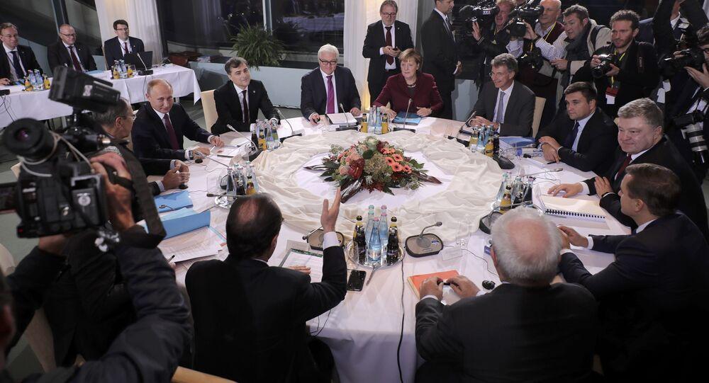 La cumbre del Cuarteto de Normandía