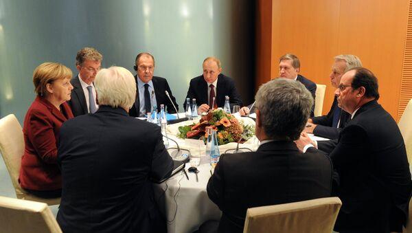 Cumbre del Cuarteto de Normandía en Berlín (archivo) - Sputnik Mundo