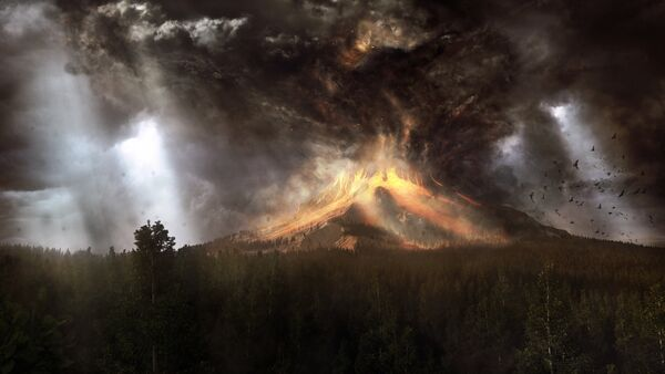 Un volcán activo - Sputnik Mundo