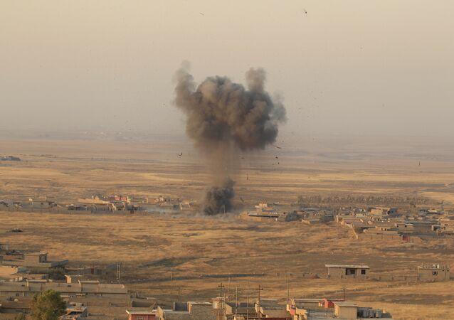 El ataque de las posiciones de Daesh en Mosul, Irak ( archivo)