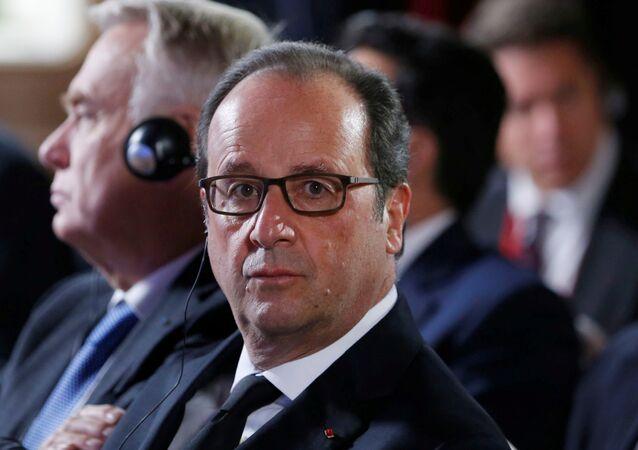 François Hollande, el presidente de Francia