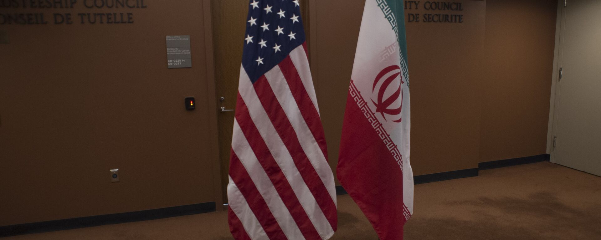 Banderas de EEUU e Irán - Sputnik Mundo, 1920, 05.02.2021
