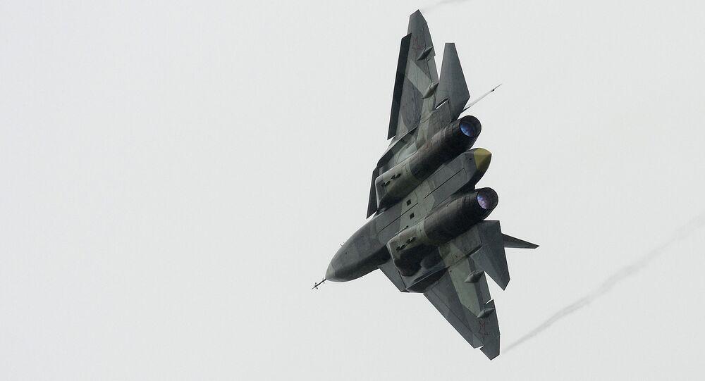 El caza ruso de quinta generación T-50, PAK FA (imagen referencial)