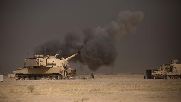 Un tanque de EEUU cerca de Mosul, Irak (archivo) - Sputnik Mundo