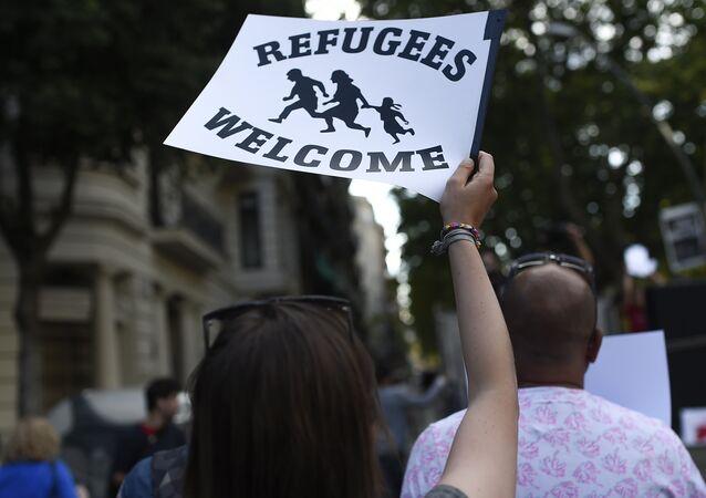 Manifestación en solidaridad con los refugiados en España (archivo)