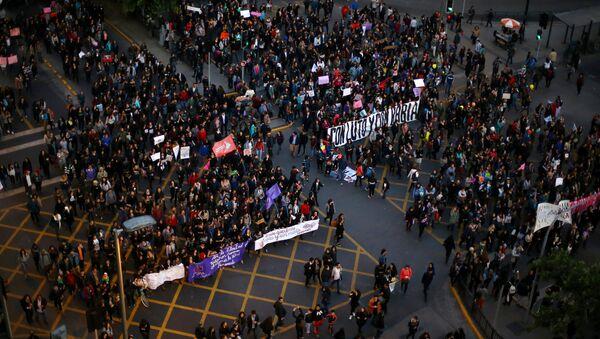 Una protesta en Chile (archivo) - Sputnik Mundo