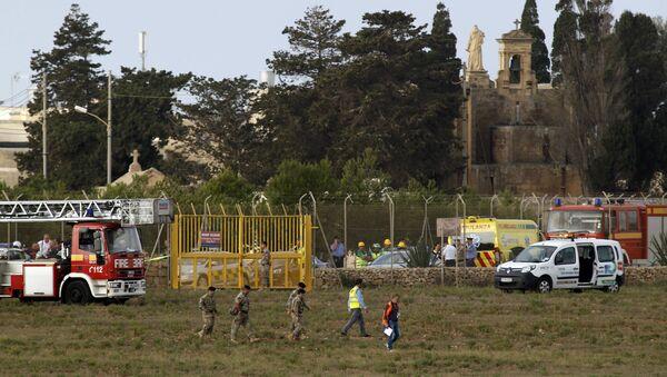 Lugar del siniestro del avión de Frontex en Malta - Sputnik Mundo