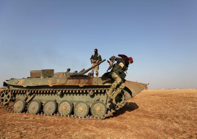 Rebeldes sirios en Alepo