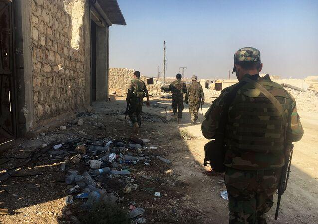 Militares del Ejército Árabe Sirio en Alepo (archivo)