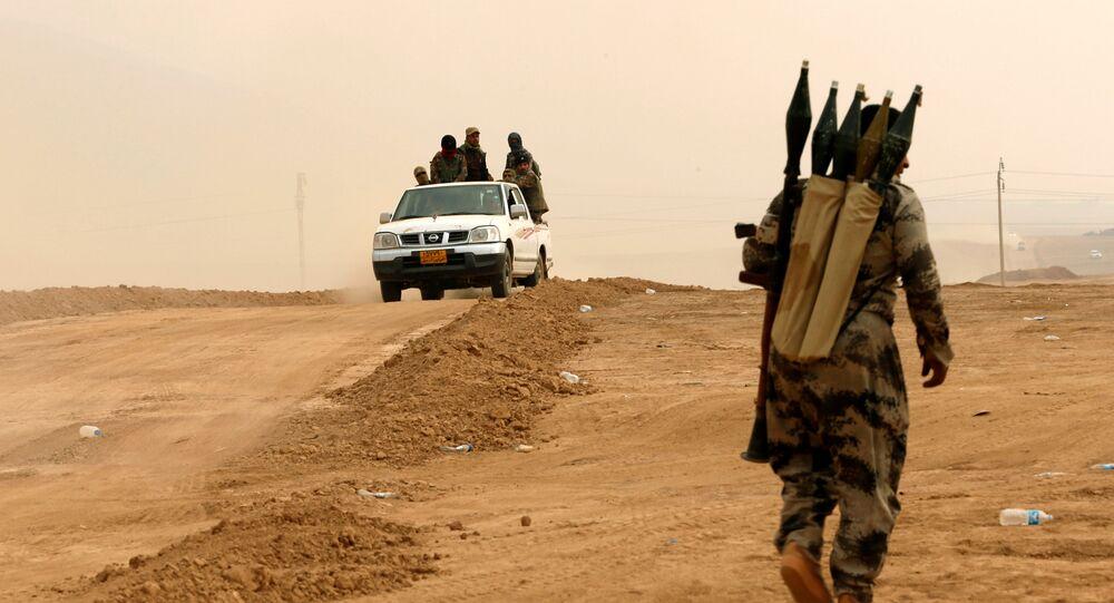 El grupo kurdo Peshmerga cerca de Mosul