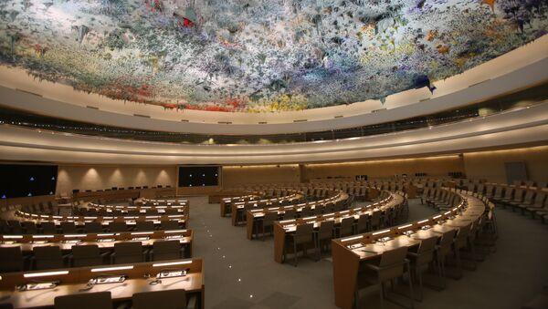 La sala del Consejo de Derechos Humanos de la ONU - Sputnik Mundo