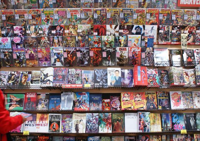 Una tienda de historietas (archivo)