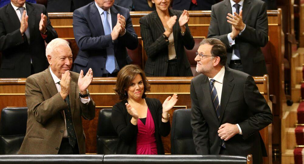 La primera sesión del debate de investidura de Mariano Rajoy en el Congreso de los Diputados en España