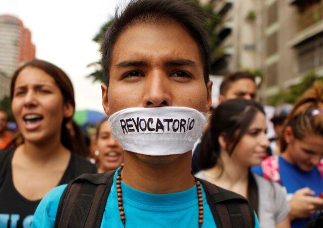 Protesta en Venezuela por el revocatorio del presidente Nicolás Maduro