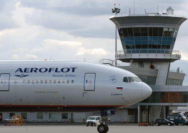 Un avión de la compañía rusa Aeroflot