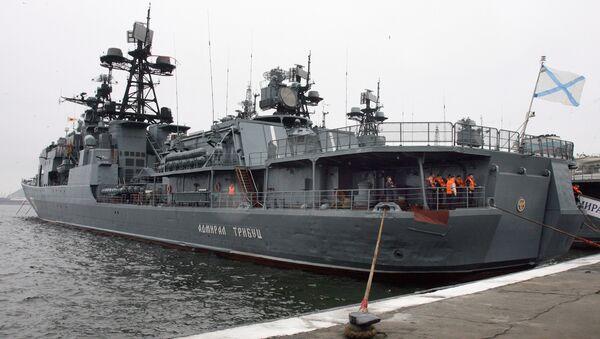 Buque antisubmarino del proyecto 1155 Almirante Tributs - Sputnik Mundo