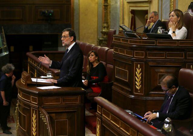 Mariano Rajoy durante el debate de la investidura