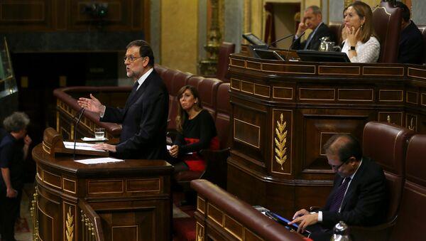 Mariano Rajoy durante el debate de la investidura - Sputnik Mundo