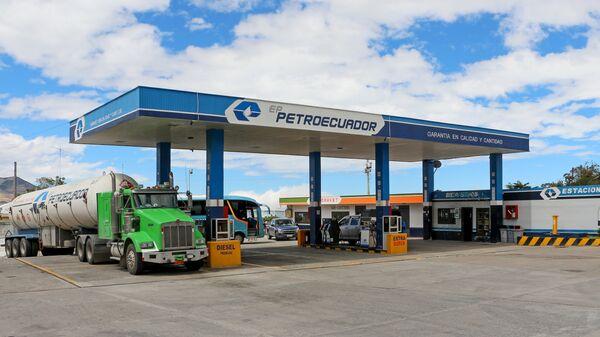 Una gasolinera de Petroecuador - Sputnik Mundo