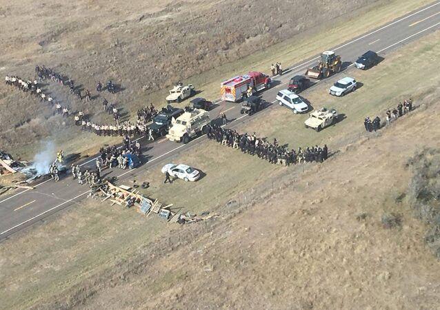 Protestas en Dakota (archivo)