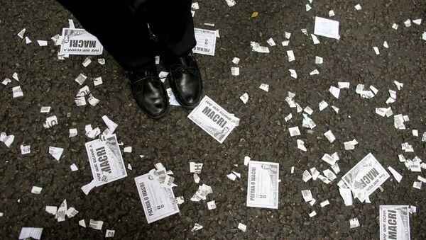 Una protesta en Argentina (archivo) - Sputnik Mundo