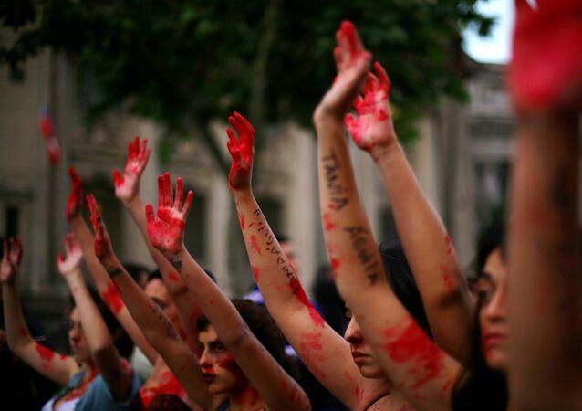 Marcha contra la violencia de género (archivo)