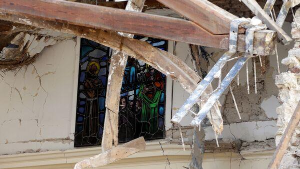 Consecuencias del terremoto en Italia - Sputnik Mundo