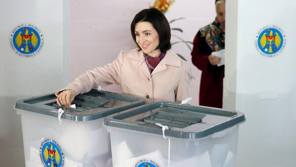 Maia Sandú, candidata de la oposición conservadora a la presidencia de Moldavia y líder del partido Acción y Solidaridad - Sputnik Mundo