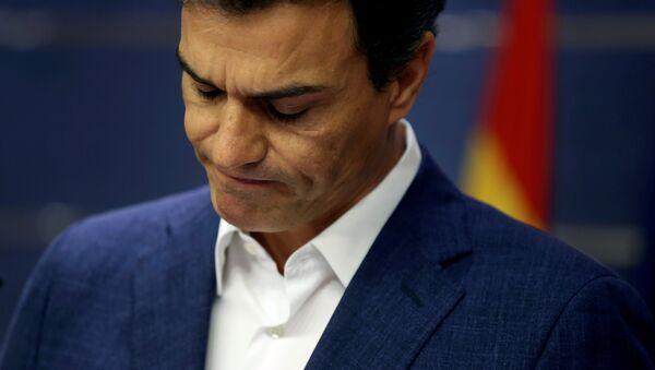Pedro Sánchez, ex líder del PSOE - Sputnik Mundo