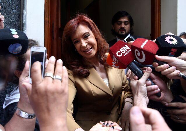 Cristina Fernández de Kirchner llegó a los tribunales federales de Buenos Aires