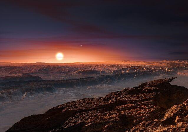 Ilustación artística del exoplaneta Próxima b