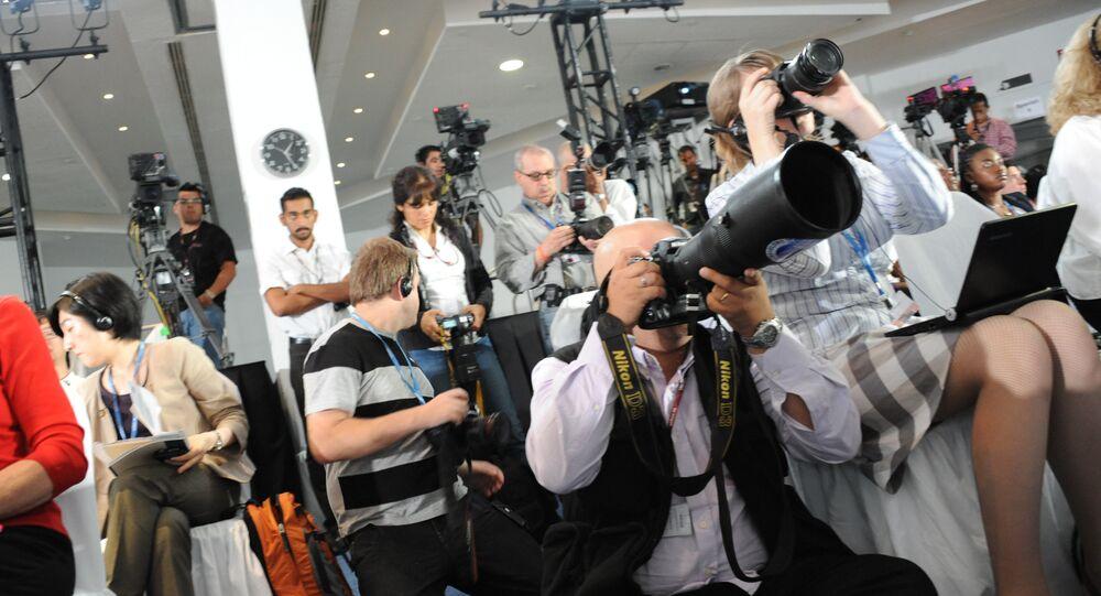 Unos periodistas (imagen referencial)