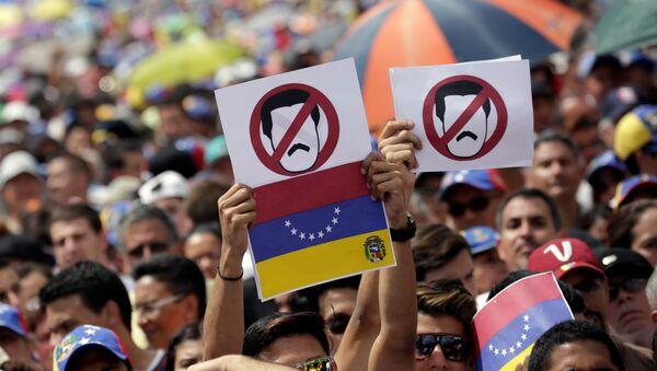 Protesta de la oposición en Venezuela (archivo) - Sputnik Mundo