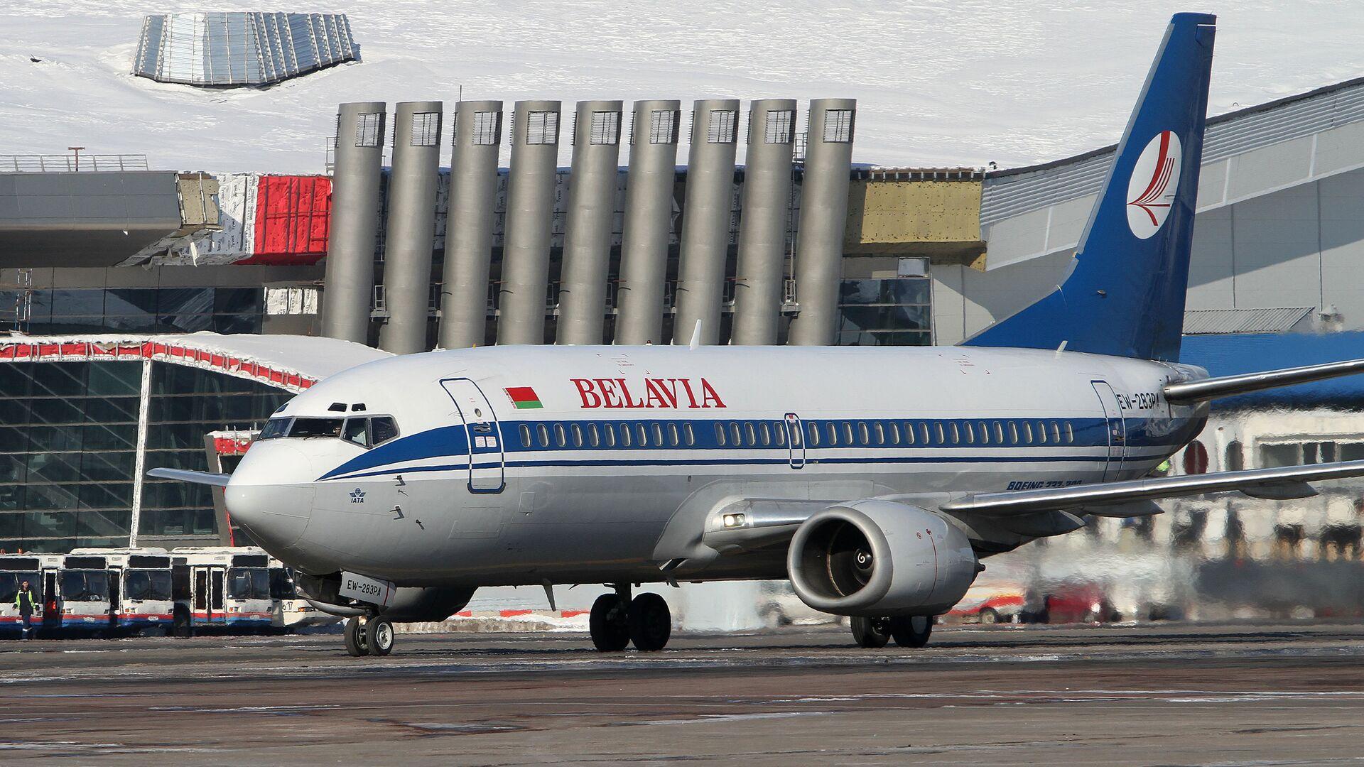 Un avión de la aerolínea Belavia - Sputnik Mundo, 1920, 25.05.2021