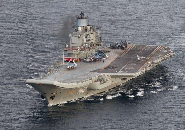 El grupo naval ruso, dirigido por el portaviones Almirante Kuznetsov