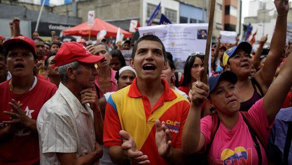 Los partidarios de Maduro (archivo) - Sputnik Mundo