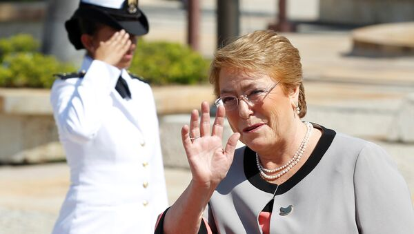 Michelle Bachelet, presidenta de Chile - Sputnik Mundo
