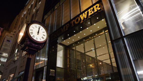 La entrada a la Torre Trump en Nueva York - Sputnik Mundo
