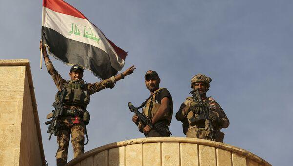 Fuerzas especiales iraquíes en las inmediaciones de Mosul, 21 de octubre de 2016 - Sputnik Mundo