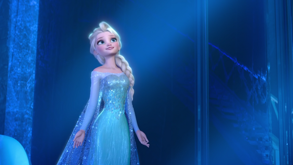 Elsa, la protagonista de la película animada Frozen - Sputnik Mundo
