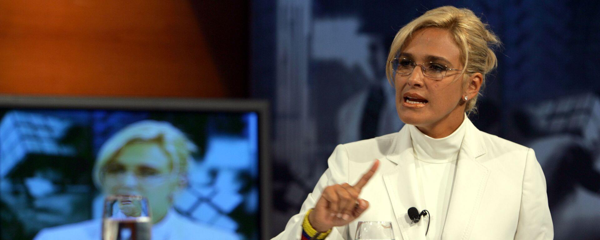 Ecuadorean Presidential candidate Cynthia Viteri talks during a TV show, This Monday - Sputnik Mundo, 1920, 03.05.2021