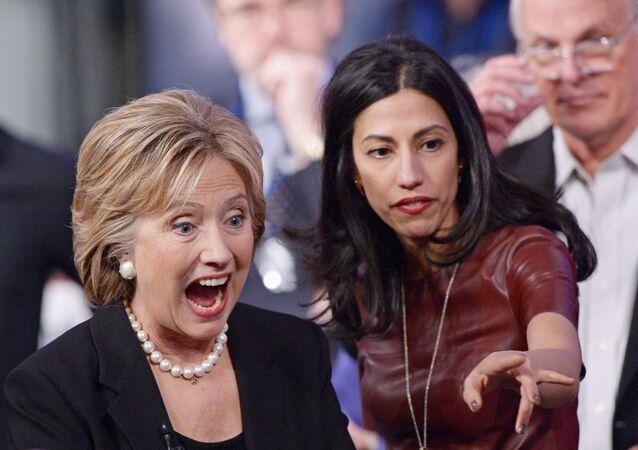 La candidata demócrata, Hillary Clinton, durante su campaña electoral