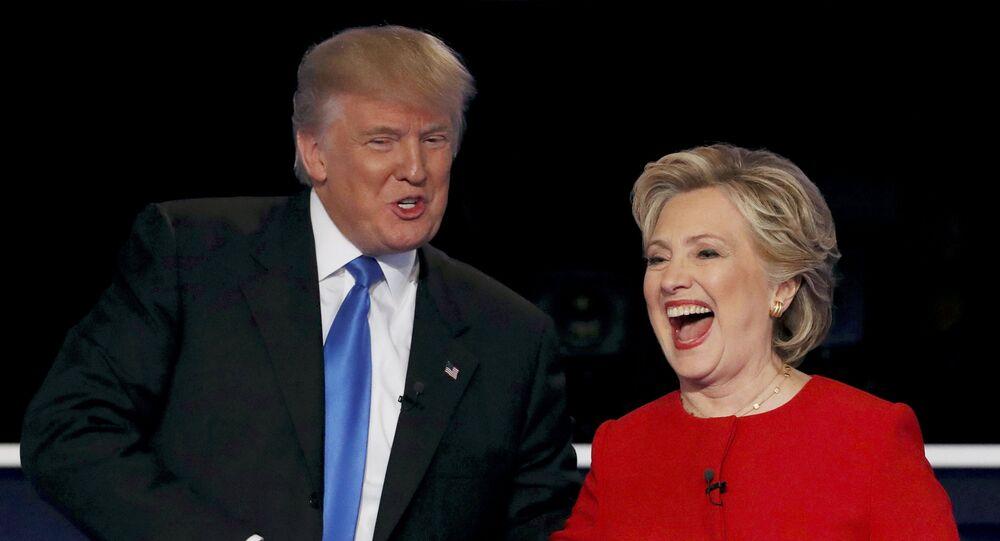 Donald Trump y Hillary Clinton , candidatos a la presidencia de EEUU