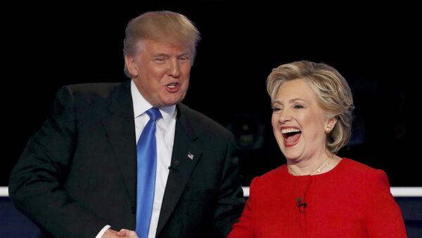 El presidente de EEUU, Donald Trump, y la exsecretaria de Estado de EEUU, Hillary Clinton - Sputnik Mundo