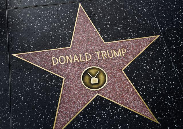 La estrella del presidente de EEUU, Donald Trump, en el paseo de la fama de Hollywood