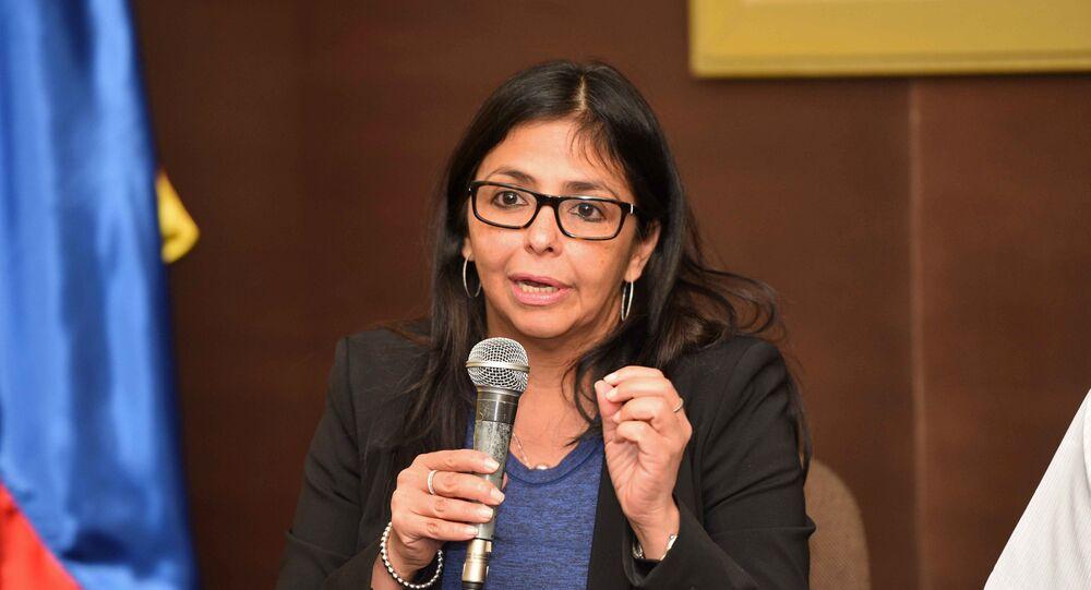 Delcy Rodríguez, vicepresidenta venezolana