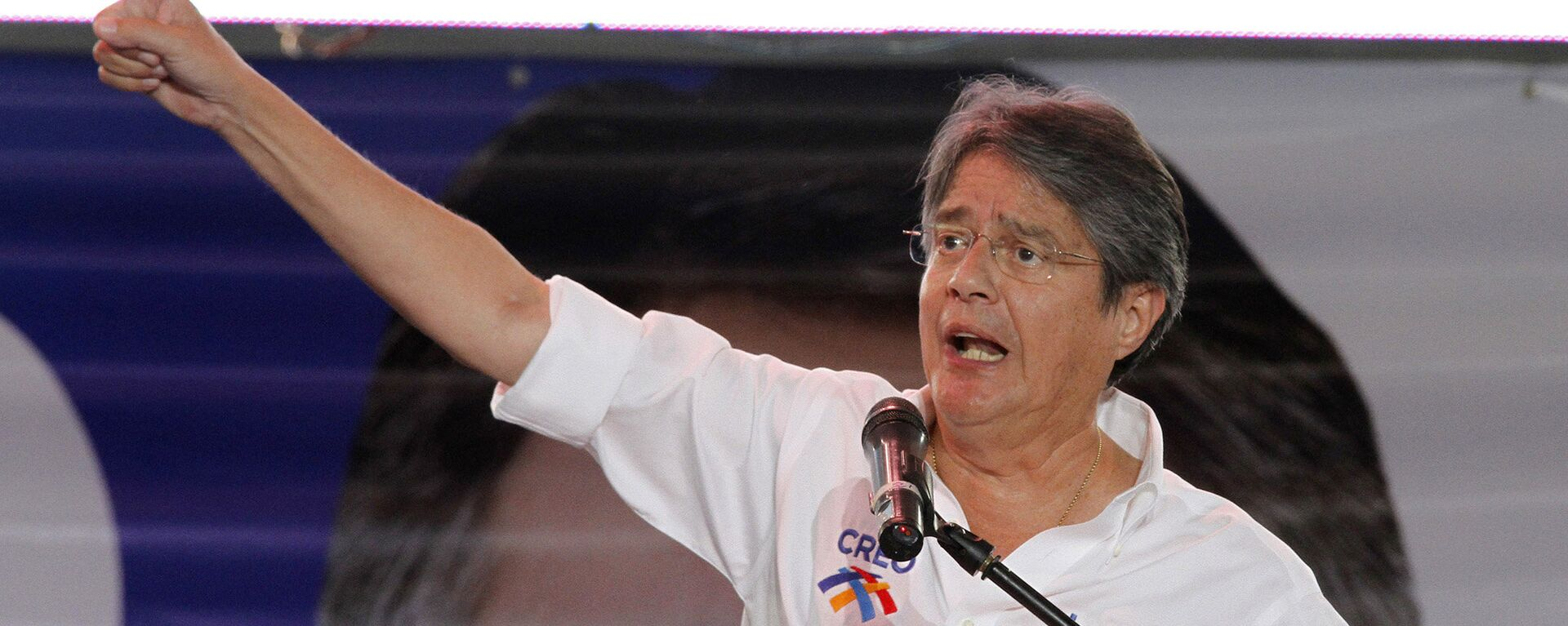 Opposition presidential candidate of the Movement Creando Oportunidades, CREO, party, Guillermo Lasso, delivers a speech during his closing campaign rally in Guayaquil, Ecuador, Thursday, Feb. 14, 2013. - Sputnik Mundo, 1920, 22.06.2021