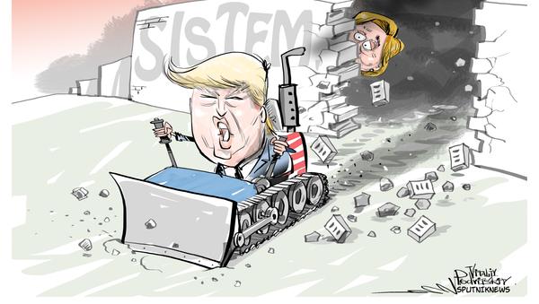 Trump y sus muros - Sputnik Mundo